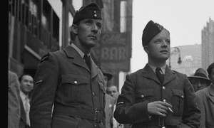 Soldiers on leave or stationed in New York learned of the invasion in Times Square.