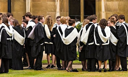 Cambridge University students on graduation day