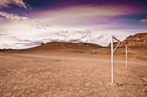 A desert pitch at Tamnougalt village, near Agdz, Morocco