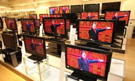 Television sets on sale at a John Lewis store