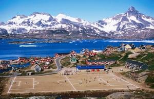 A football match in Tasiilaq, Greenland