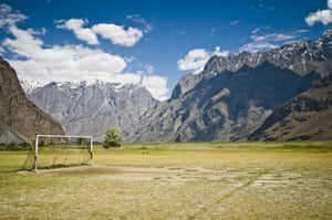 A remote pitch in Tajikistan at 2,500