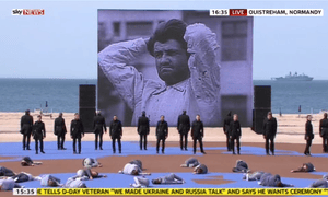 Dance performance at the 70th anniversary of D-day at Sword beach.