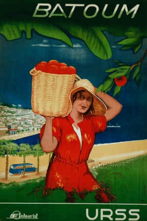 This tourism poster from the 1930s advertises what is now the Georgian seaside city of Batumi Photograph: David Pollack/K.J. Historical/CORBIS