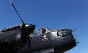 A British Avro Lancaster bomber in Normandy.