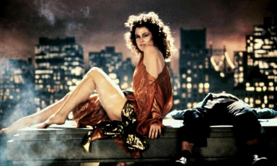 Sigourney Weaver, and Rick Moranis's legs, in Ghostbusters.