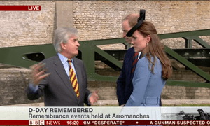 The Duke and Duchess of Cambridge with historian Antony Beevor.