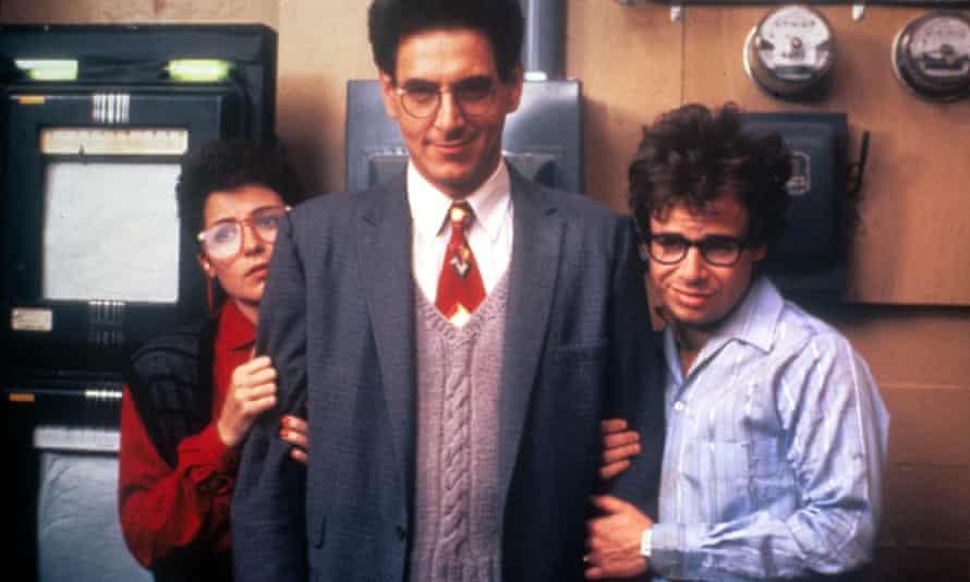 Annie Potts, Harold Ramis and Rick Moranis.