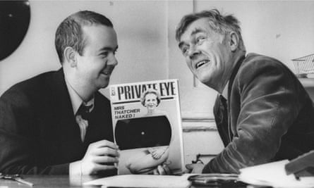 Private Eye: Richard Ingrams with Ian Hislop.