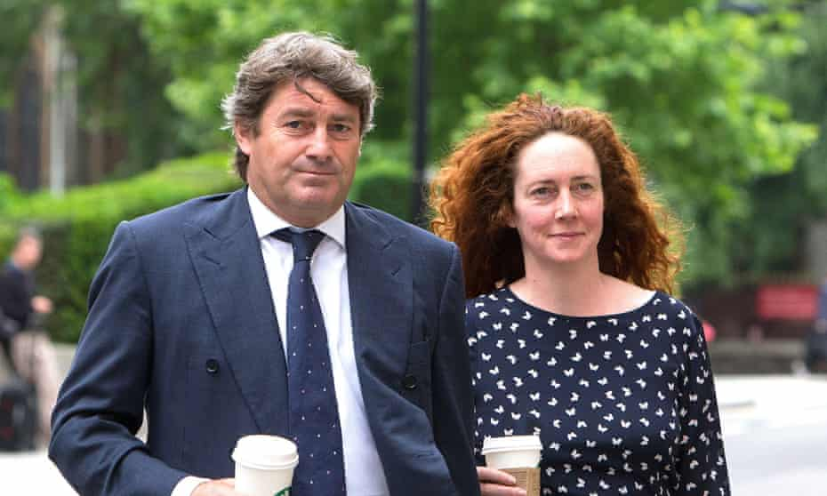 Rebekah and Charlie Brooks: Rupert Murdoch funded their heavyweight defence team