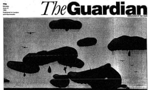 The Guardian front page, 6 June 1994.