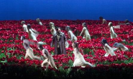 New York's Metropolitan opera spent $169,000 on this poppy field set for Borodin's Prince Igor