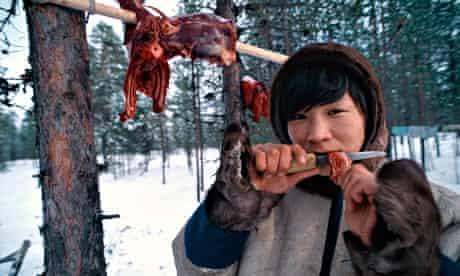 Nenets reindeer herdswoman