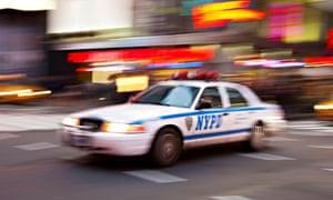 New York Police car in Times Square