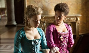 'Poised': Gugu Mbatha-Raw with Sarah Gadon in Belle.