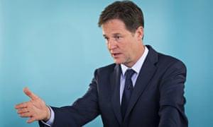 Deputy prime minister Nick Clegg: 'leading the bravest party in British politics'.