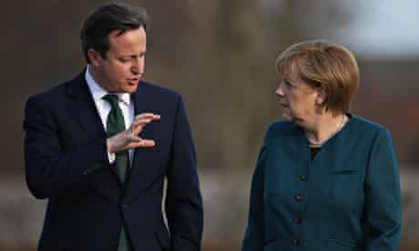 Cameron will lobby Angela Merkel over the European commission presidency at a summit in Sweden.