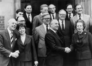 """In interview on 17th December 1984, Mrs Thatcher said, """"I am cautiously optimistic. I like Mr. Gorbachev . We can do business together."""" A frequent visitor to the UK Gorbachev was invited to Chequers to meet members of the British Cabinet in December 1984."""