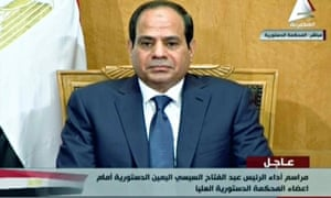 Egyptian president Abdel Fatah al-Sisi