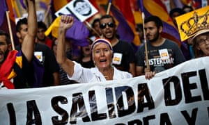 Madrid protests against the monarch