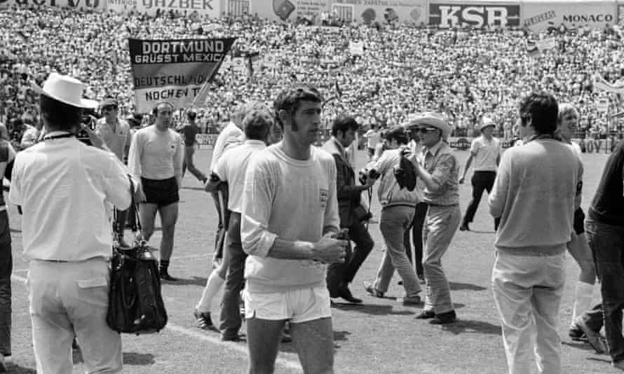 England goalkeeper Peter Bonetti walks dejectedly off the pitch after the World Cup quarter-final against West Germany in 1970.