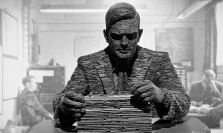 A Sculpture of Alan Turing by Stephen Kettle at Bletchley Park, Milton Keynes, UK.