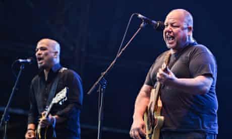 Joey Santiago, left, and Black Francis of Pixiesat Field Day 2014, in London.