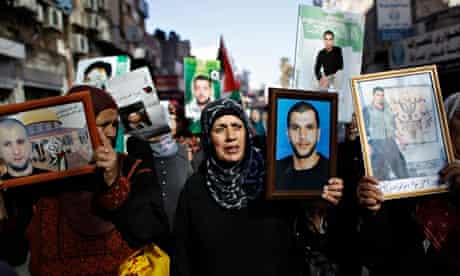 Palestinian hunger strikers protest