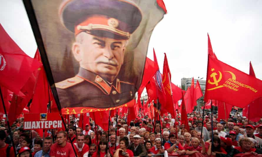Communist party supporters attend a rally in downtown Donetsk on 19 August, 2011, to mark the 20th anniversary of the break-up of the USSR.