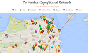The dozens of legacy bars, cafes and restaurants registered with San Francisco Heritage.
