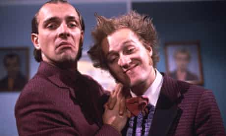 Rik Mayall and Adrian Emdonson as the Dangerous Brothers in 1985