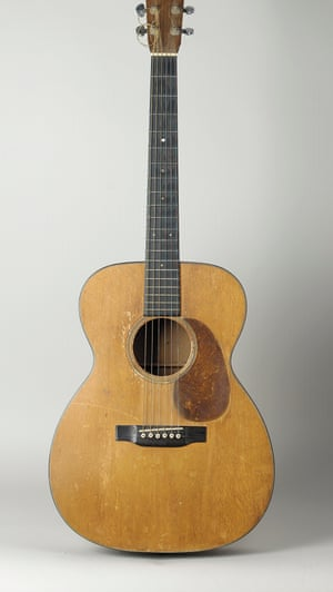 Woody Guthrie's Martin guitar