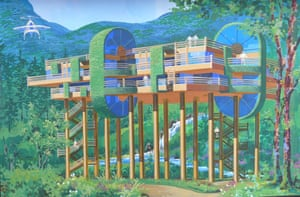 Woodland retreat … 'An aerial hotel where you are embraced by nature'.