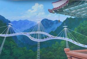 Mount Myohyang Tourism Bridge … Foster's Millau viaduct meets the wobbly Millennium Bridge.