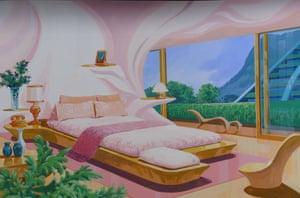Birdnest Riverside Guesthouse Interior … Thunderbirds glamour of Lady Penelope's boudoir.