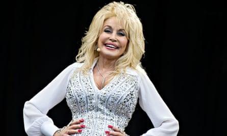 Dolly Parton at Glastonbury Festival, Somerset