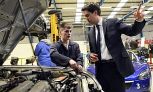 Ed Miliband (right) is publishing Labour's regional growth review.