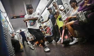 Subway acrobats