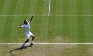 Roger Federer: plain sailing into the last eight.