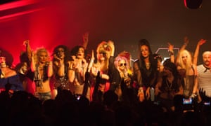 The Drag Queen show in NYC Downlow, a club in the Block 9 area of Glastonbury festival.