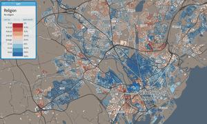 Cardiff religion map