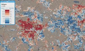 Bradford and Leeds religion map