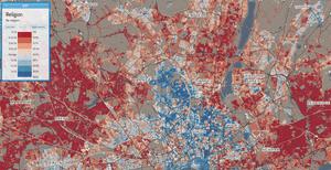 London north religion map
