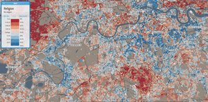 London south religion map