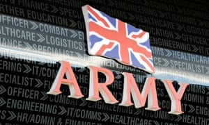 An army careers office in Yorkshire: 'The government should invest in peace education, not use schoo
