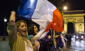French fans make their feelings known after their team reaches the World Cup quarter-finals