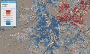 Sheffield religion map