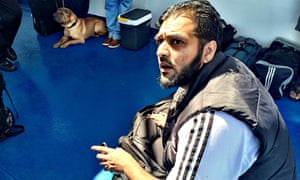 Kasim Jameel on the ferry en route to Syria.