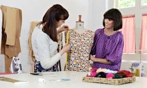 Dawn O'Porter tailors her vintage clothes with teacher Elena Pintus.
