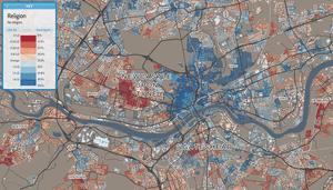 Newcastle religion map